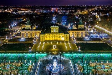 Запрошує королівський сад світла в Варшаві