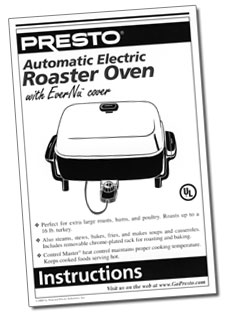 Automatic Electric Roaster Oven Instruction Manual