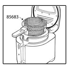 Frying Basket Assembly for CoolDaddy® cool-touch electric