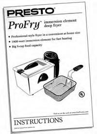 Instruction Folder for ProFry™ immersion element deep