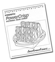 Instruction Manual for the PowerCrisp™ microwave bacon