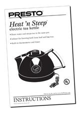 Instruction Manual for the Heat'nSteep™ electric tea