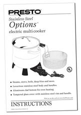 Instruction Manual for the Presto® 6 Qt. Stainless Steel
