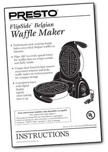 Instruction Manual for the FlipSide® Belgian Waffle Maker