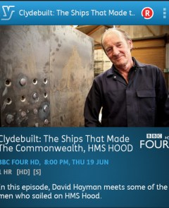 Clydebuilt: The Ships That Made the Commonwealt (YouView app screenshot)