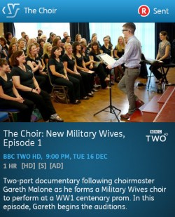 The Choir: New Military Wives - 16-12-2014 (YouView app)