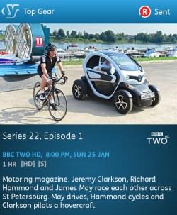 Top Gear - 25-01-2015 (YouView app)