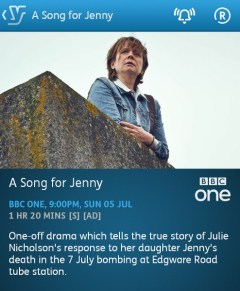A Song for Jenny (YouView app)