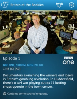 Britain at the Bookies - 18/07/2015 (YouView app)
