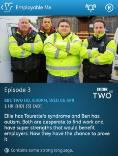 Employable Me - 06-04-2016 - YouView app