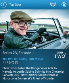 Top Gear - 29-05-2016 - YouView app