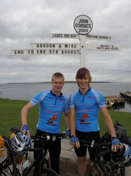 Mike and myself at John O'Groats