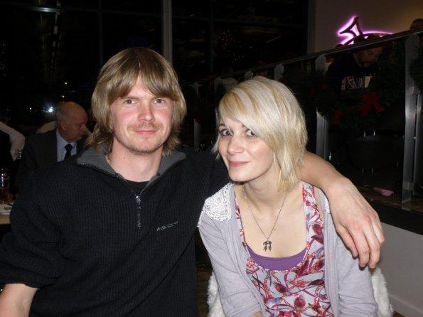 Emilie and myself at Yarmouth Stadium