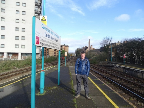 Myself at Cardiff Queen Street railway station
