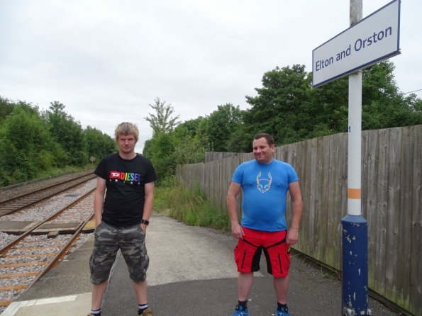 Mark T and myself at Elton and Orston railway station