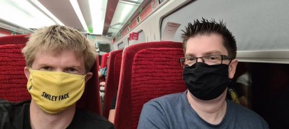 Douglas and myself on the way to London