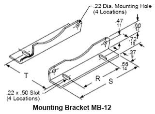 SQUARE D MB12 : TRANSFORMER CURRENT BRACKET MODEL 66