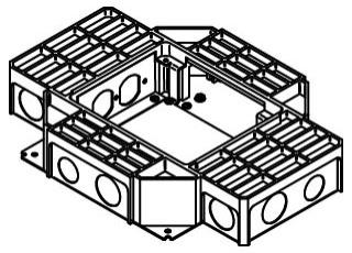WALKER RFB4-SS : SHALLOW STEEL RECEPTACLE FLOOR BOX