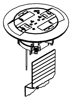WALKER 881CTCAL : FLOOR BOX ACTIVATION W/ALUMINUM FLANGE
