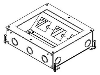 WIREMOLD RFB9-OG : LRG CAPACITY ONGRADE FLOOR BOX 4IN