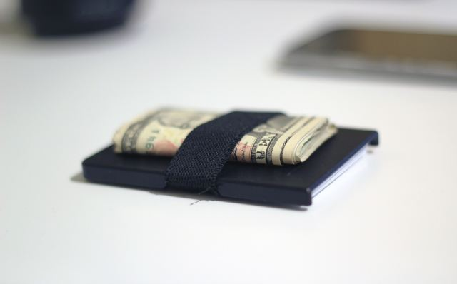 wallet with cash money on top