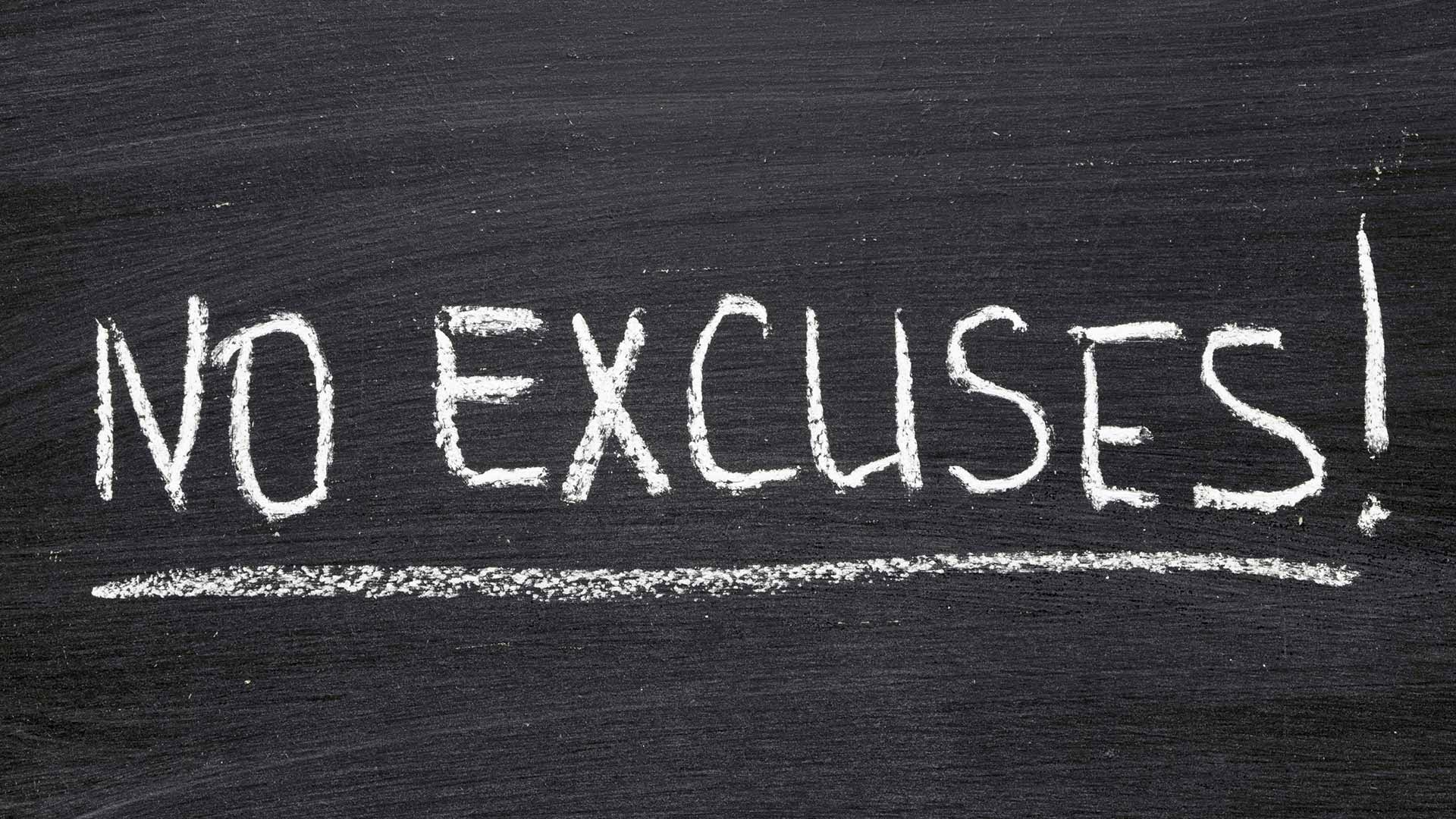 no excuses on chalkboard estate planning
