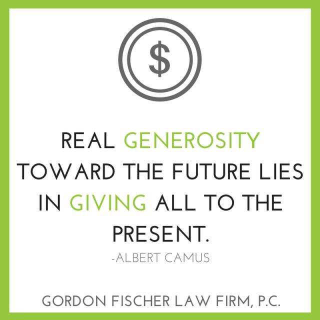 Real generosity