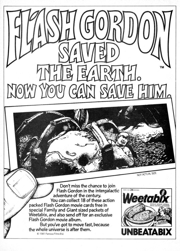 FLASH GORDON WEETABIX MARCH81