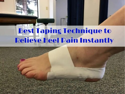 small resolution of best taping technique to relieve heel pain instantly gordon physical therapy