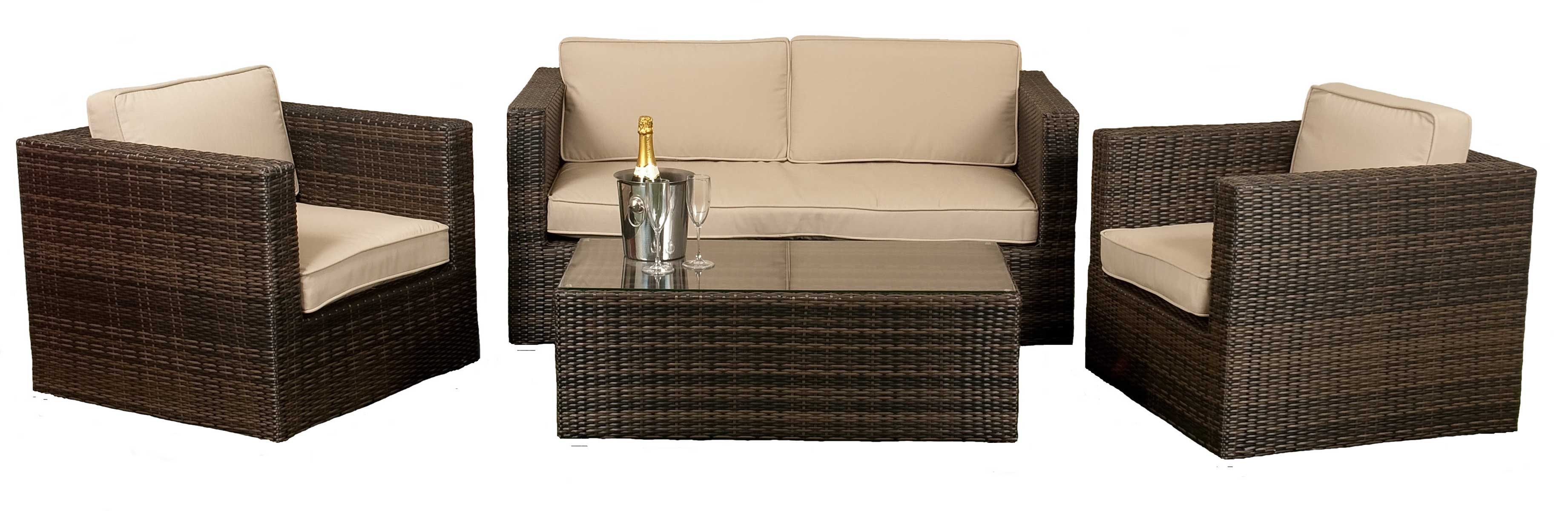 wicker sofa sets uk decorating ideas for living rooms with red sofas rattan set gordons caterhire