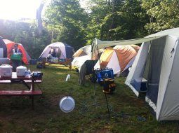 Group campsite at Gordon's Park on Manitoulin Island