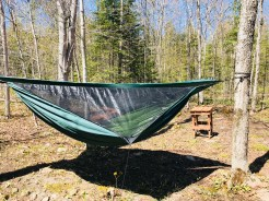Hammock camping at Gordon's Park on Manitoulin Island