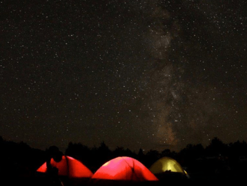 camping, dark sky camping, open campsites, stargazing