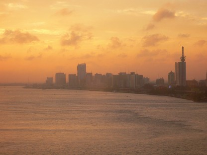 Lagos at sunrise. Image is a Creative Commons image from Wikipedia; click on the image to link to the attributions!