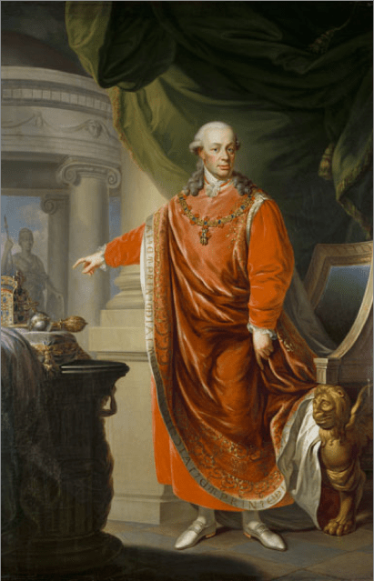 Johann_Daniel_Donat,_Emperor_Leopold_II_in_the_Regalia_of_the_Golden_Fleece_(1806)