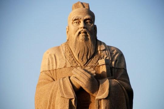 A Statue of Confucius