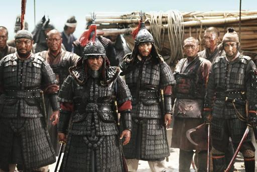 Yi as depicted in the awful recent movie Roaring Currents (2014).