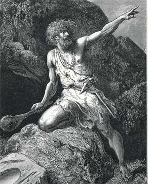 Some artist's depiction of Timon of Athens: I couldn't figure out whose.