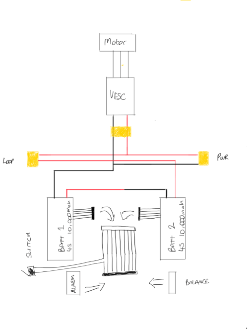 small resolution of is my wiring diagram ok esk8 electronics electric skateboard builders forum learn how to build your own e board