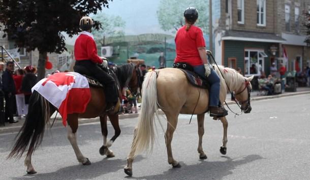 """""""Horses on Gore Bay's main street"""""""
