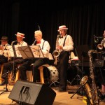 Manitoulin Swing Band gives a concert.