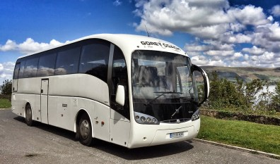 One of our luxury coaches on a recent trip to Carlingford