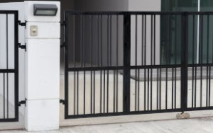 Black Electric Gate