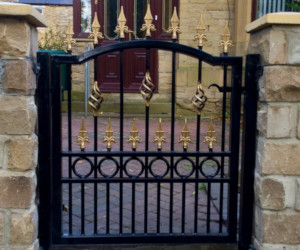 Black and Gold Single Gate