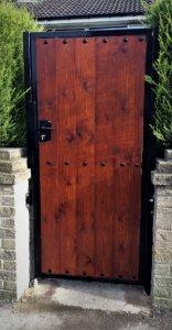 Vertical Wooden Clad Gate