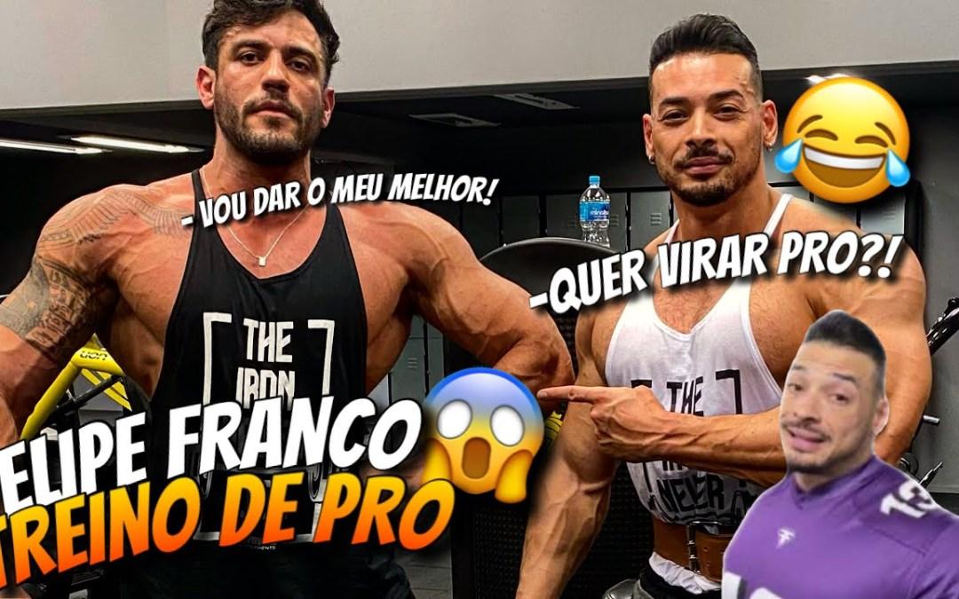 GORGONOID E FELIPE FRANCO JUNTOS PELA PRIMEIRA VEZ *remada curvada com 180 kg!!!*