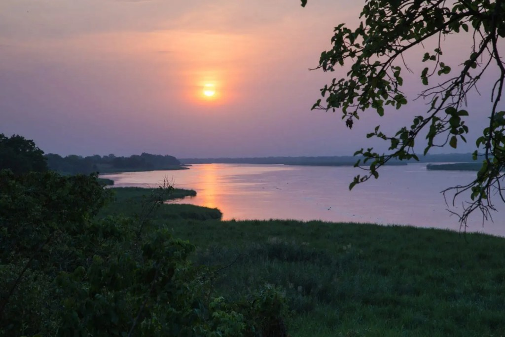 Sunset on the Nile River in Murchison Falls N.P