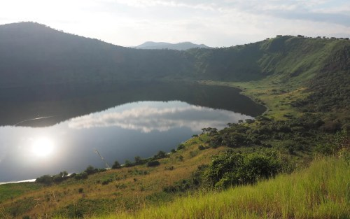 Queen Elizabeth National Park crater lake