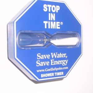 Stop In Time® 5 Minute Shower Timer by GorillaSpoke – Simple Install & No Batteries Needed Ever