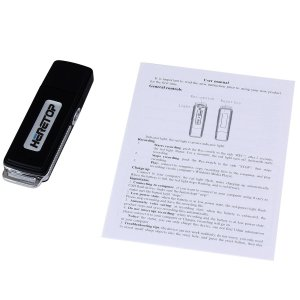 SPY USB Digital Voice Recorder Key Chain – Black & Silver – (4GB / 8GB / 16GB) – Windows Compatible